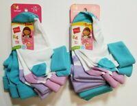 HANES 10 PAIR! Girls Turn Cuff Socks blue pink purple shoe size 4-10 SHIP FAST!