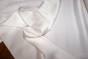 1m x 105cm wide 'CREAMY WHITE' SILK VISCOSE SATIN with Give