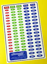 SOCKET SET IDENTIFICATION TOOL LABEL stickers decals METRIC, set of 85!