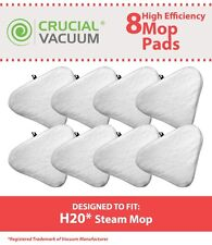 8 Replacements H2O Ti & Steamboy Microfiber Steam Mop Pads