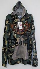 SPY ZONE EXCHANGE BOUTIQUE WOMENS HANDCRAFTED CAMO HOODIE CELEBRITY LARGE 5701