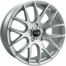 "Set of 4 OX111 18x8"" OX Wheels Hyper Silver style Rims with a set of LUG NUTS"