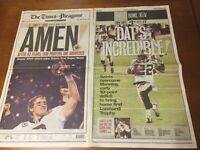 NEW ORLEANS SAINTS Football SUPER BOWL NEWSPAPER Drew Brees