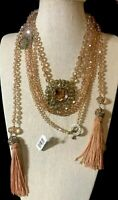 """Heidi Daus """"How Suite It Is"""" 3 piece Necklace Set Golden Color NWT RET $186"""