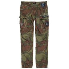 Superdry Men's Patched Camo Ripstop Parachute Cargo Pant Size 36