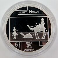 .2006 .999% FINE SILVER 1oz PROOF $5. SIDNEY NOLAN, BURKE & WILLS.