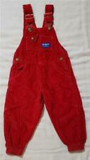 Vintage Oshkosh B'Gosh Vestbak Toddler Boy Red Corduroy Bib Overall Joggers 3T