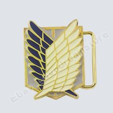 "Attack on Titan Scouting Legion Badge Logo 4.5cm/1.8"" Metal Belt Buckle Cosplay"