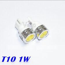 10x T10 1w LED COB DC 12V Flat Car Side Dome Interior Reading Light Lamp White