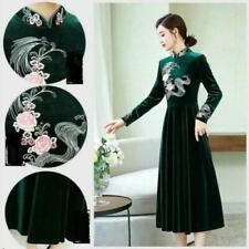 Velvet Floral Fit & Flare Dresses for Women