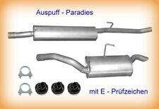 Fiat Scudo 2.0 2001-2006 SWB 2824mm Auspuff Auspuffanlage Mit Montagesatz