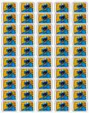 "50 Cookie Monster Eating Cookies Envelope Seals / Labels / Stickers, 1"" by 1.5"""