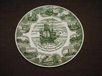 "VINTAGE 10"" HALF MOON SHIP 1609-1959 ROCKLAND COUNTY CELEBRATION CERAMIC PLATE"