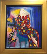 """Linda Le Kinff """"Emmanuel B"""" Embellished Serigraph on Canvas"""
