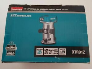 "Makita (DRT50ZJ) Cordless XTR01Z 18V Brushless 1/4"" Router Trim. Tool only NoBox"