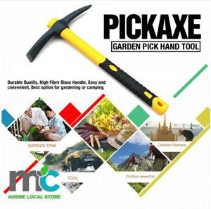 Mattock Outdoor Camping Mountain Fibreglass Handle Mini Pickaxe Garden Farm Tool
