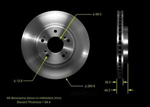 Disc Brake Rotor Front Bendix PRT5538 fits 2004 Mitsubishi Endeavor