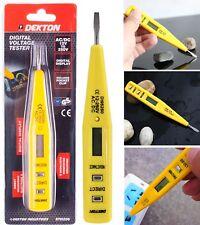 DEKTON Power Voltage Current Meter Digital Tester Pencil Detector AC DC 12V-250V
