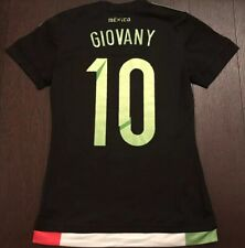 ADIDAS Mexico WMN Official Black Green Stripes Soccer Jersey 2015 🔥 #10 Gio
