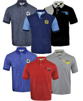 Mens Short Sleeve Plain Contrast Polo Shirt T shirt Top Casual Cotton Mix S-XXL