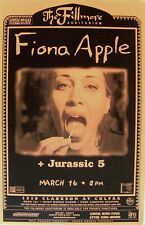 FIONA APPLE /JURASSIC 5 2000 DENVER CONCERT TOUR POSTER-Matchstick To Her Tongue