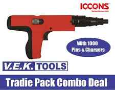 ICCONS TOOLS PA POWDER ACTUATED NAIL GUN COMBO-CONCRETE-STEEL-WOOD-LIKE RAMSET