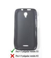 Funda de gel TPU carcasa protectora silicona para Alcatel Pixi 4 5.0 3G Negra