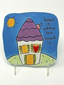 Sandra Magsamen Silvestri Wall Plaque Home is Where the Heart Is Original Tag