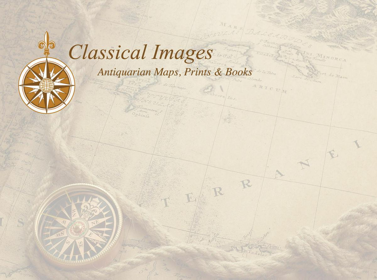 Classical Images Antique Maps Print