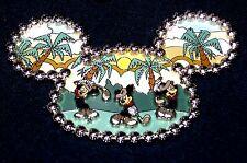 LE 750 JUMBO Disney Pin✿Mickey Mouse Golf Hitting Links Ear Hat Palm Trees Rare!