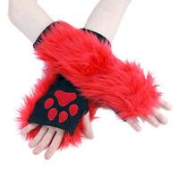 PAWSTAR Fingerless Paw Gloves NRAIN 3174 Furry Neon Rainbow Gay Pride Rave