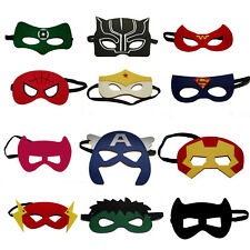 12 Pc Superhero Party Masks For Kids Includes the BLACK PANTHER Super Hero Mask