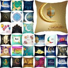Eid Mubarak Ramadan Sofa Cushion Cover Waist Throw Pillow Case Islam Home Decor