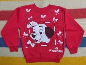 VTG 90s Disney 101 Dalmatians Big Head Print Cartoon Crewneck Sweater L