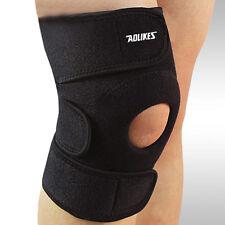 Adjustable Knee Patella Support Brace Sleeve Wrap Cap Stabilizer Sports Black #L