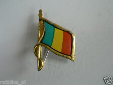 PINS,SPELDJES 50'S/60'S COUNTRY FLAGS 77 REP.TCHAD VINTAGE VERY OLD VLAG