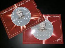 Louis Braille Birth Bicentenary 2009 - India Commemorative Coin UNC