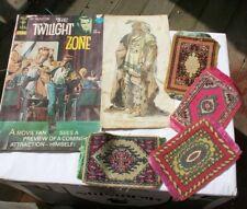 LOT Vintage Tobacco Silks Prayer Rugs Twilight Zone Comic Book Indian Litho NR