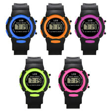 Kids Boy Girl Digital Watches Sport Waterproof Teenagers Plastic Wristwatch JD