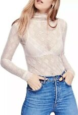 "Intimately FREE PEOPLE Blush ""Sweet Memories"" Top XS NWOT"