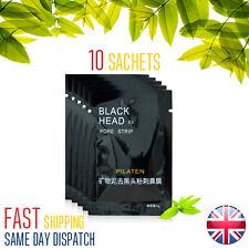 10 sachets - Pilaten Blackhead Remover Face Nose Mask Pore Peel Cleansing