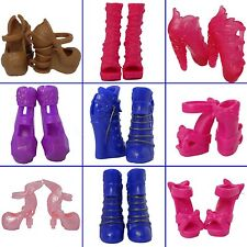 5 Pairs Shoes Lot Random Boots for Monster High Doll Accessories Dolls Clothes