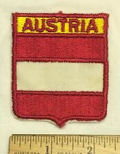 AUSTRIA Osterreich Red + White Flag Travel Souvenir Embroidered Patch Badge