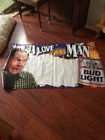 Budweiser Beer Sign Vinyl Banner Huge 3x5 Ft
