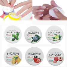 Non-Toxic Nail Polish Remover 32 Pads Fruit Polish Remover Cotton Beauty Tools