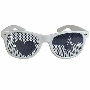 Dallas Cowboys I Heart Team Logo NFL Football Game Day Mesh Shades Sunglasses