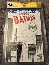 All Star Batman #1 Blank Variant CGC 9.8 SS Signed & Sketched By Jock Catwoman