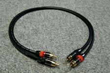 Van Damme-Monster argento placcato OFC RCA Phono Ultra Cavo Nero 0.75m