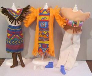KID KORE FASHION DOLL NATIVE AMERICAN Barbie Clone outifts/clothes boots/shoes