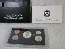 1993 S Proof Set Premier Black Box /& COA 5 Coins 90/% Silver Kennedy US Mint